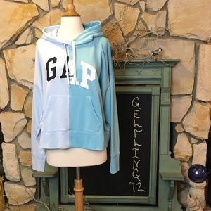 Gap global remix spliced hoodie